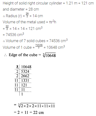 ICSE Class 8 maths mensuration questions and answers