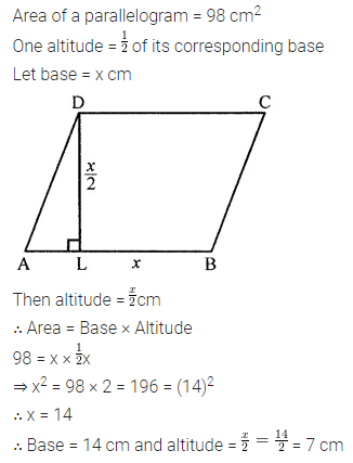 Maths Questions for Class 8 ICSE With Answers Chapter 18 Mensuration Check Your Progress Q10