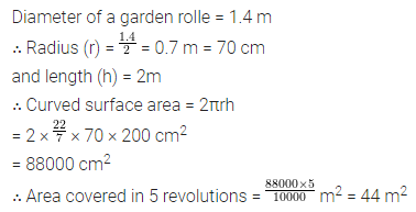 Maths Questions for Class 8 ICSE With Answers Chapter 18 Mensuration Check Your Progress Q17
