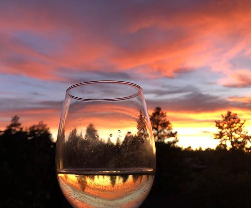 wine sunset california