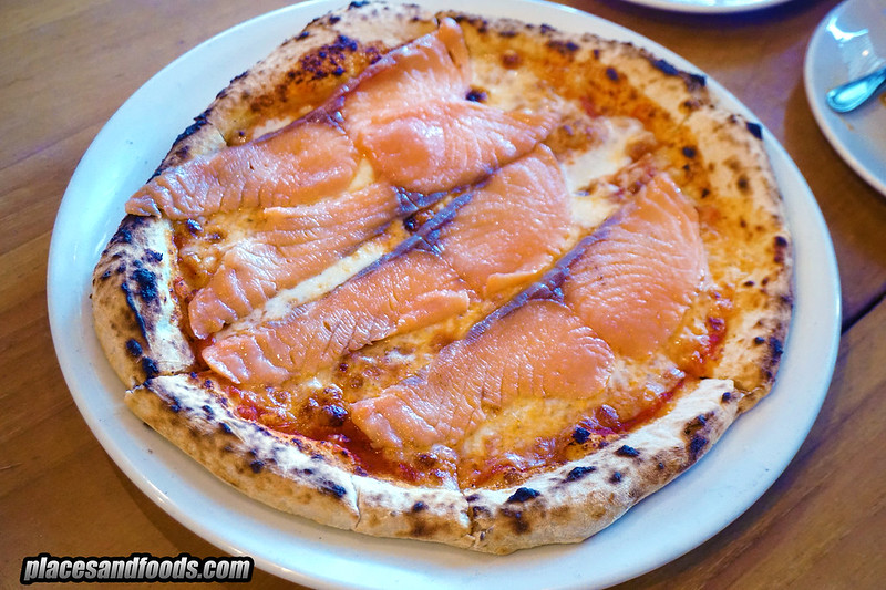 phuket crust salmon pizza