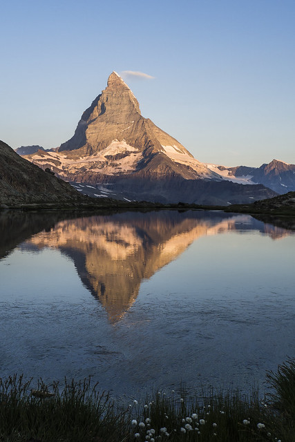 Matterhorn and Riffelsee, morning (explored)