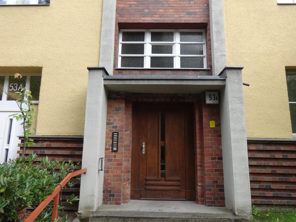 1928/29 Berlin Haustür Wohnanlage Südwestkorso 53a von Jean Krämer in 14197 Wilmersdorf