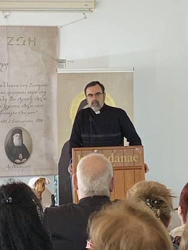Fr. Theodoros giving his speech