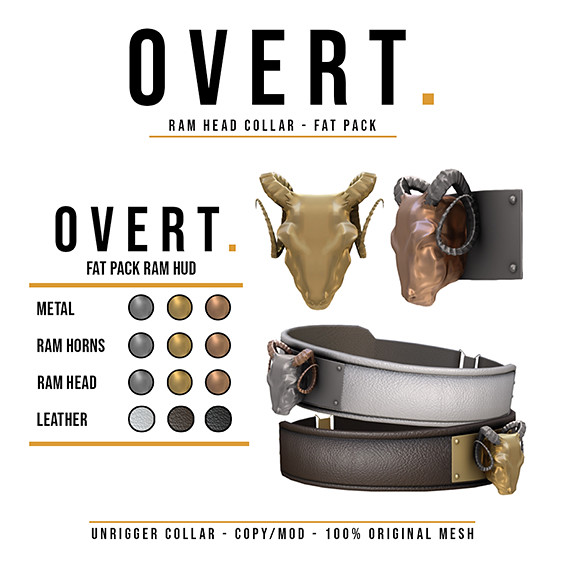 Overt. Ram Head Collar – Fat Pack Advert
