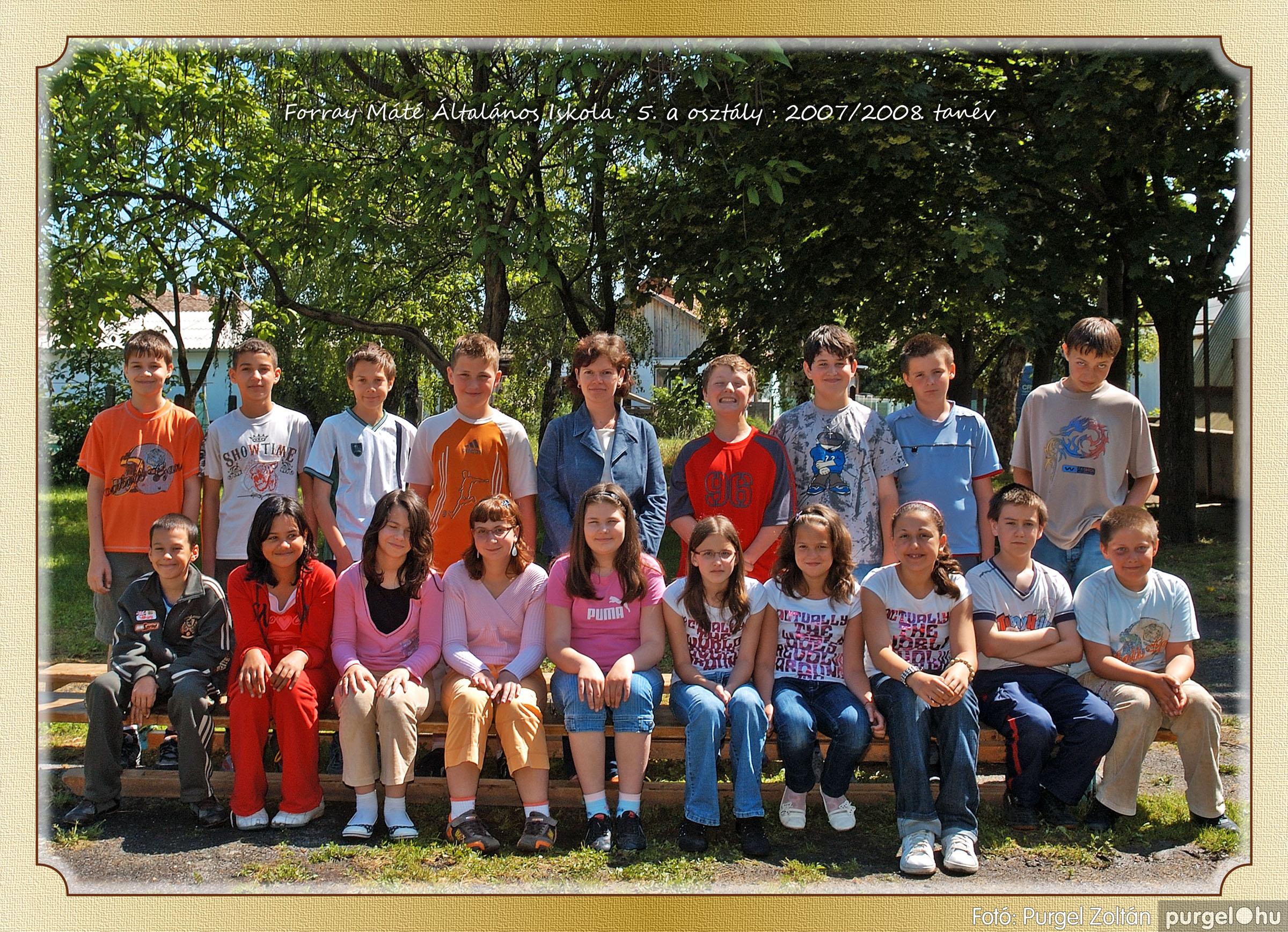 2008.05.08-26. 031 Forray Máté Általános Iskola osztályképek 2008. - Fotó:PURGEL ZOLTÁN© 5a-1.jpg