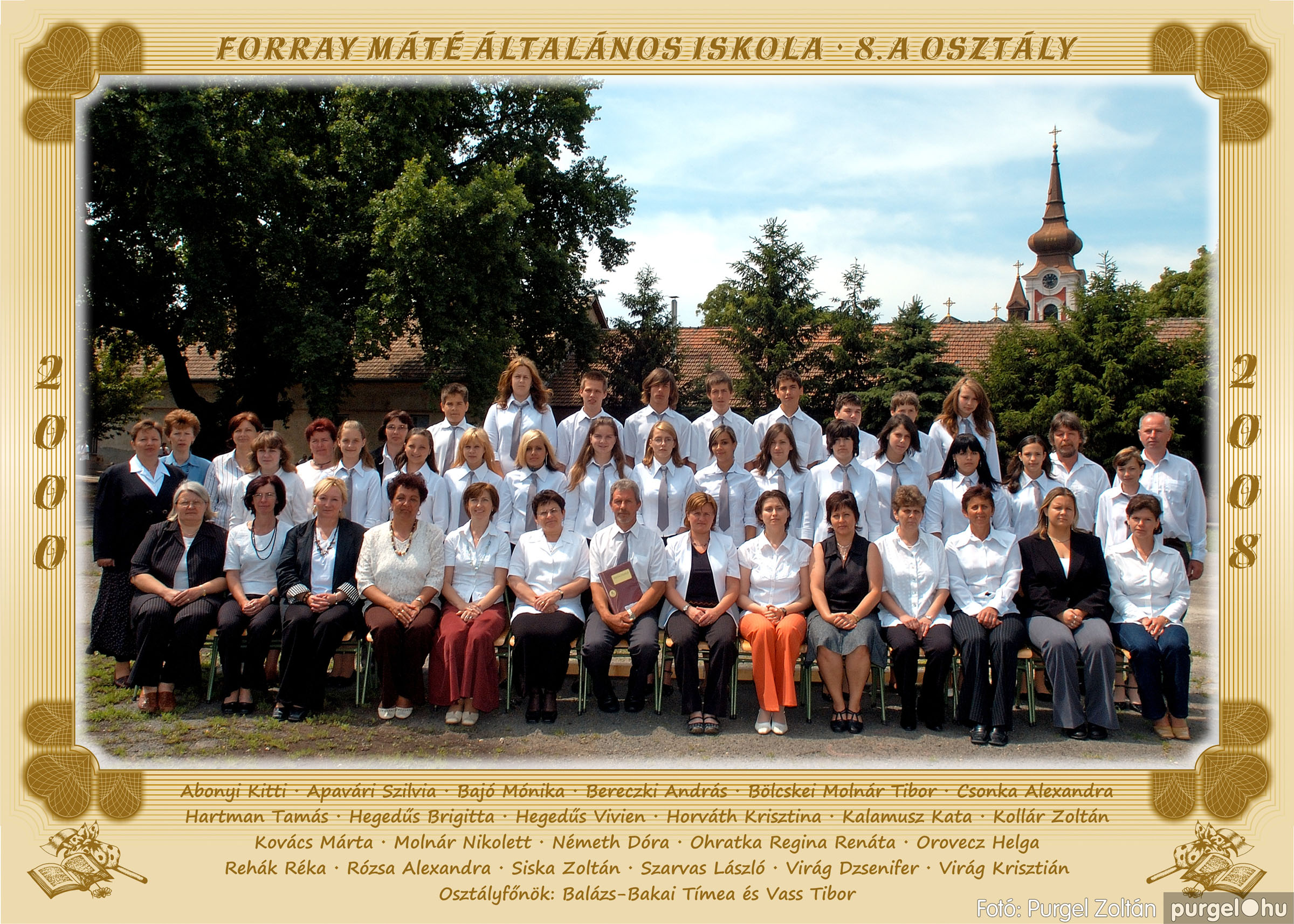 2008.05.08-26. 049 Forray Máté Általános Iskola osztályképek 2008. - Fotó:PURGEL ZOLTÁN© 8a.jpg