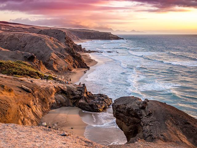 Sunset at Viejo Rey Beach.