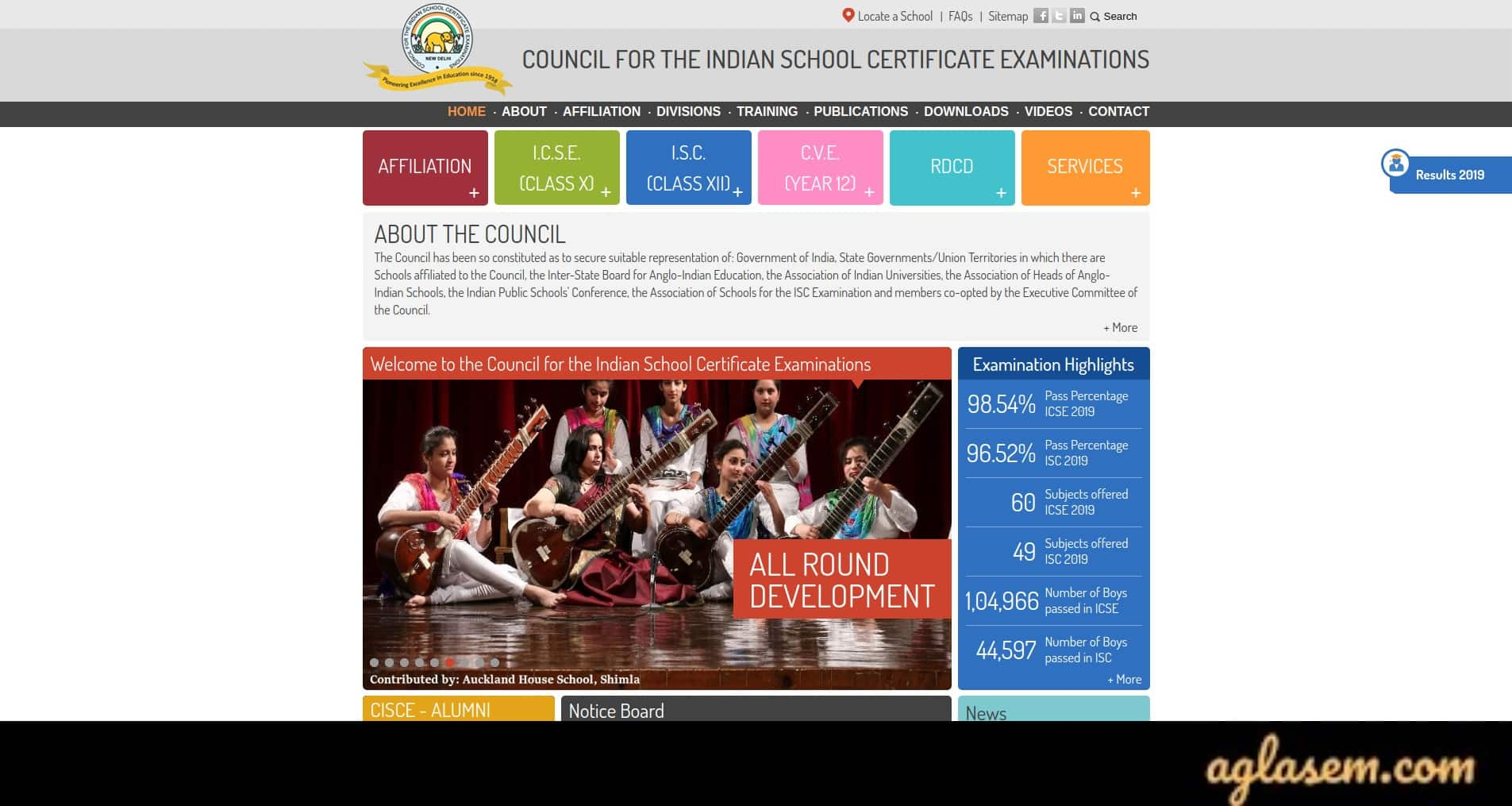 ICSE Class 9 Time Table 2020