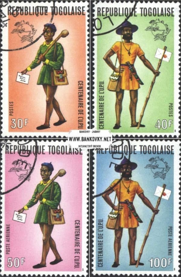 Známky Togo 1974 Poštová únia, razítkovaná séria