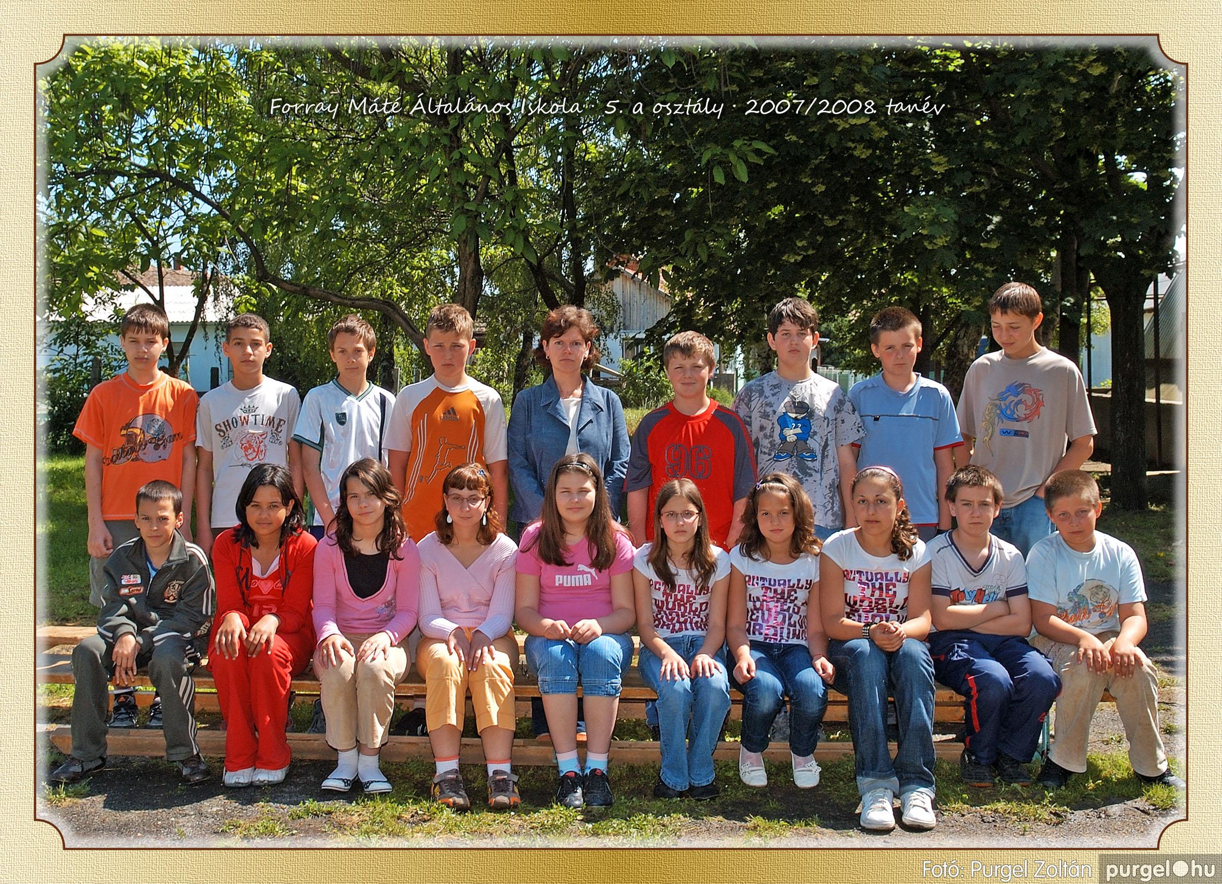 2008.05.08-26. 032 Forray Máté Általános Iskola osztályképek 2008. - Fotó:PURGEL ZOLTÁN© 5a-2.jpg