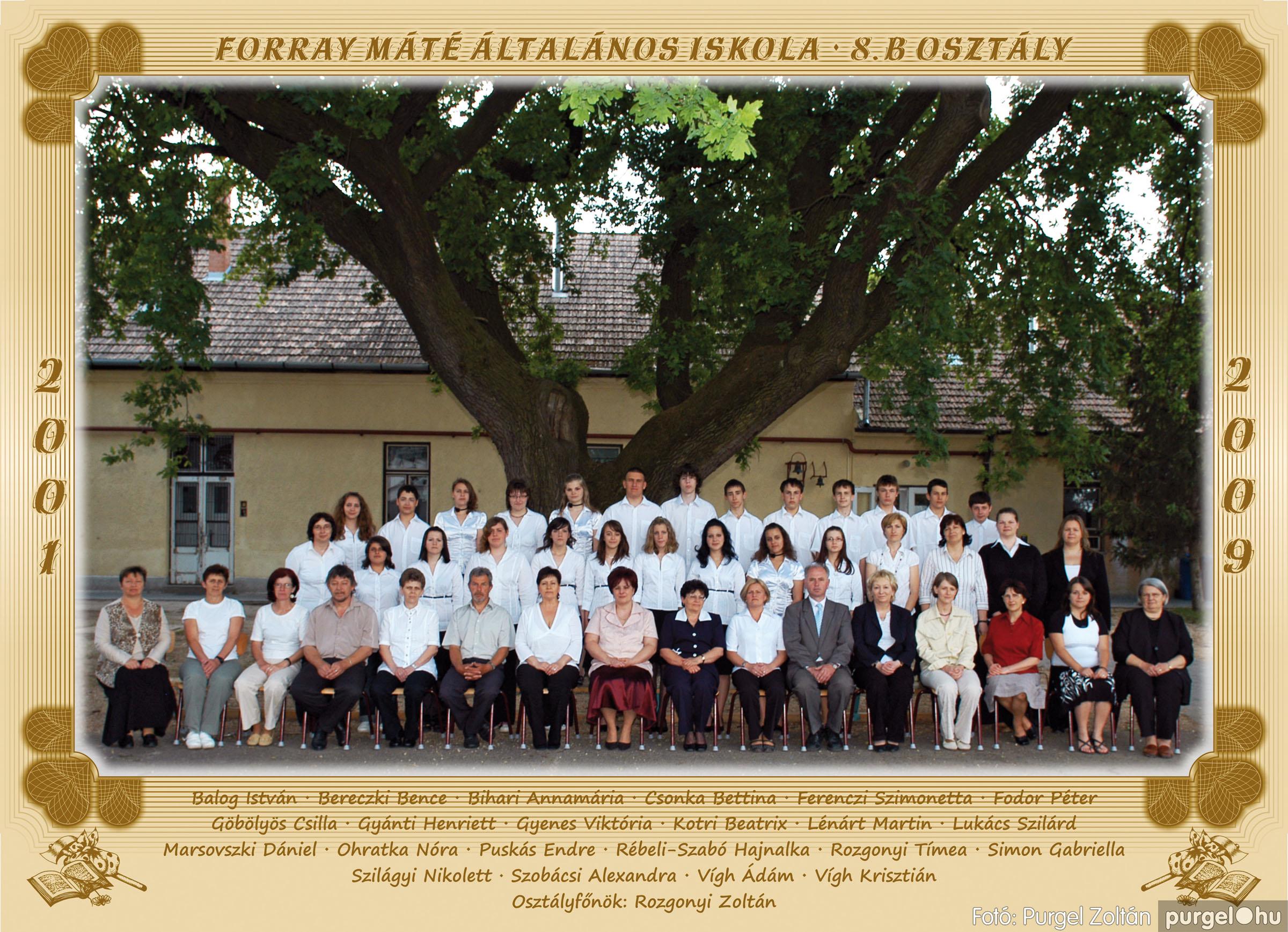 2009.05.04-26. 047 Forray Máté Általános Iskola osztályképek 2009. - Fotó:PURGEL ZOLTÁN© 8b.jpg