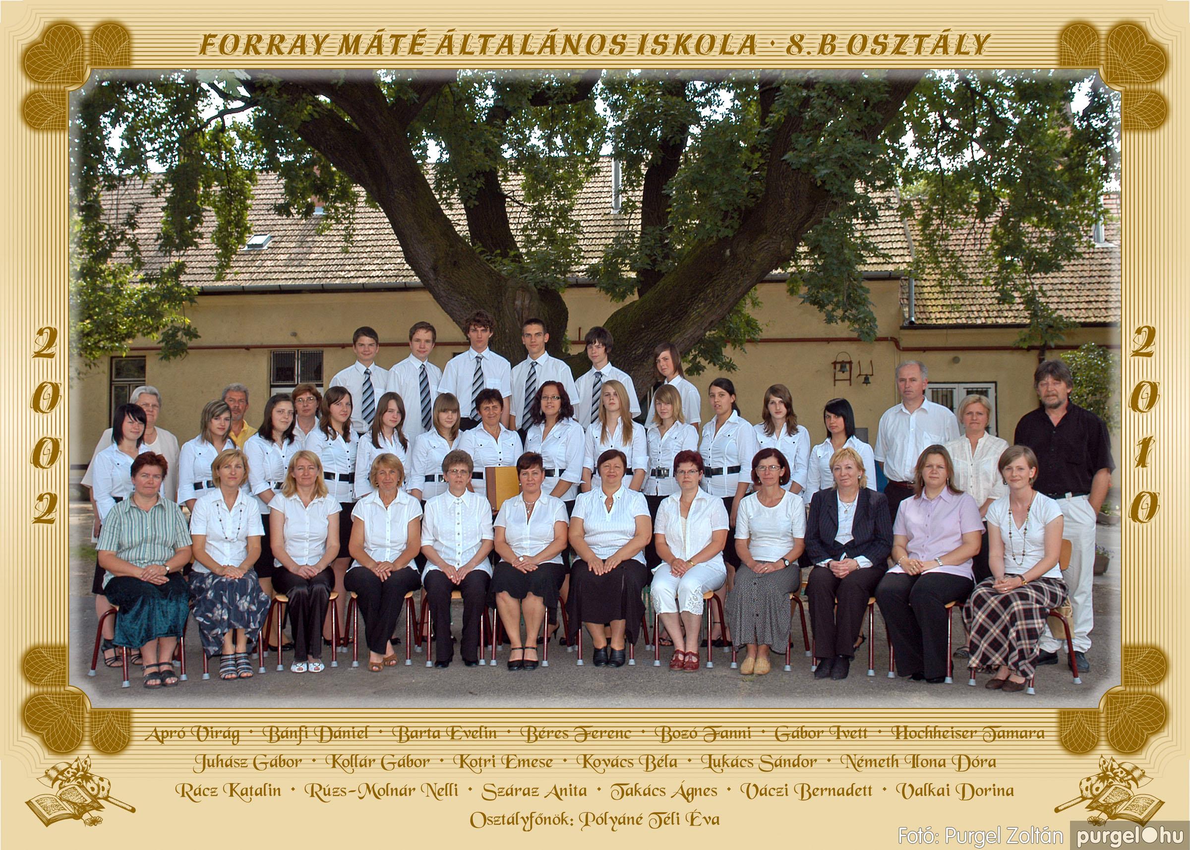 2010.04.28-06.07. 043 Forray Máté Általános Iskola osztályképek 2010. - Fotó:PURGEL ZOLTÁN© 8b.jpg