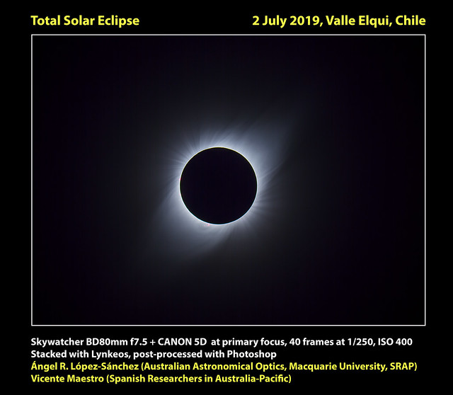 Total solar eclipse 2 July 2019, Chile