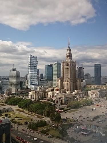 Blick zum Kulturpalast in Warschau