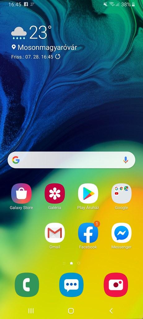 Samsung Galaxy A80 software pics
