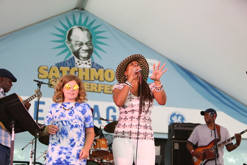 Charmaine Neville at Satchmo Summer Fest - August 2, 2019. Photo by Michele Goldfarb.