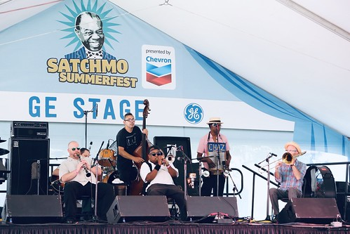 Palmetto Bug Stompers at Satchmo Summer Fest - August 2, 2019. Photo by Michele Goldfarb.