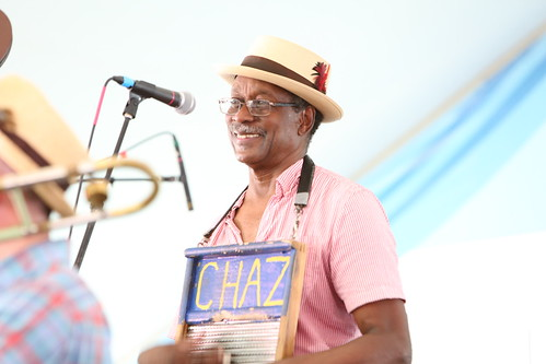 Washboard Chaz with Palmetto Bug Stompers at Satchmo Summer Fest - August 2, 2019. Photo by Michele Goldfarb.