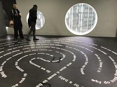 Gallery exhibit, floor display