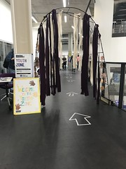 The route to the MozFest Youth Zone