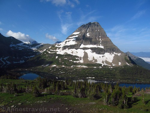 Early morning views from the Hidden Lake Overlook in Glacier National Park, Montana
