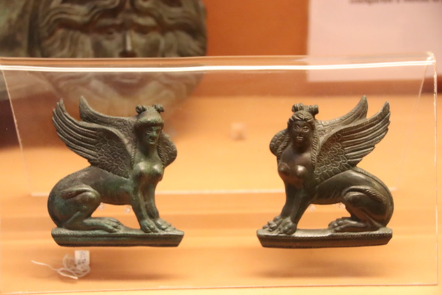 Bronze Sphinxes from Pompeii