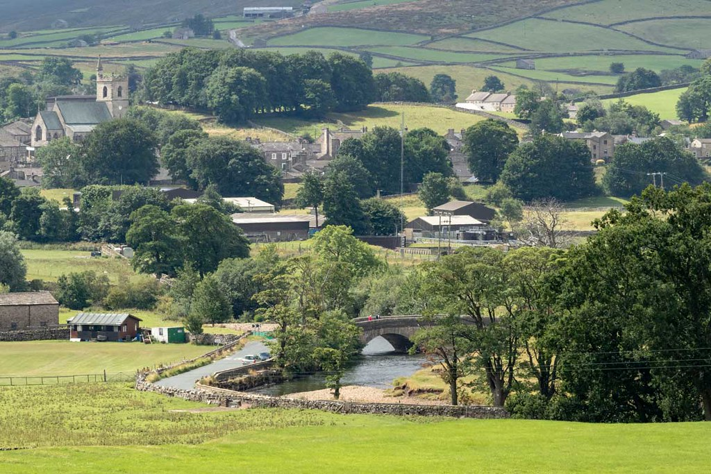 HAWES, YORKSHIRE/UK - JULY 28 : View of Hawes in the Yorkshire Dales National Park Yorkshire on July 28, 2018