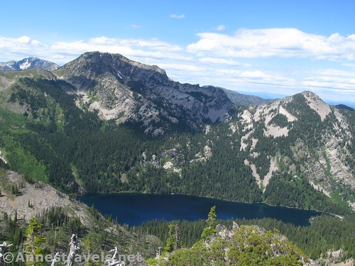 Wanless Lake from Goat Peak in the Cabinet Mountains Wilderness, Montana
