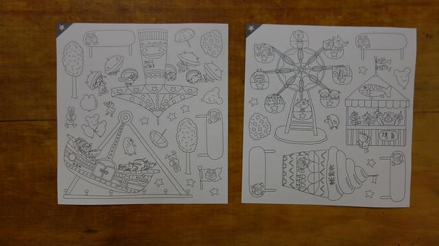 自行上色的貼紙@《走到哪貼到哪:賴馬的遊樂園遊戲貼紙書》,親子天下