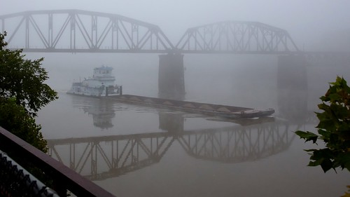 Foggy Morning on the Mon River, Homestead Pa