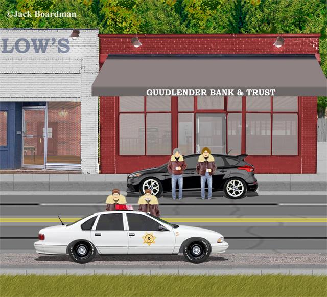 Deputy sheriffs killed the Bank Robbers ©Jack Boardman
