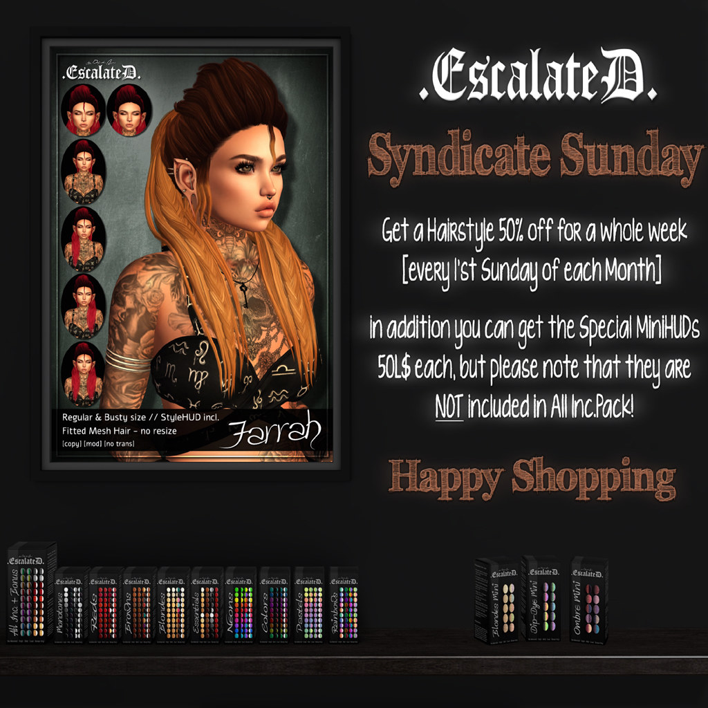 .EscalateD. | Syndicate Sunday | August Round