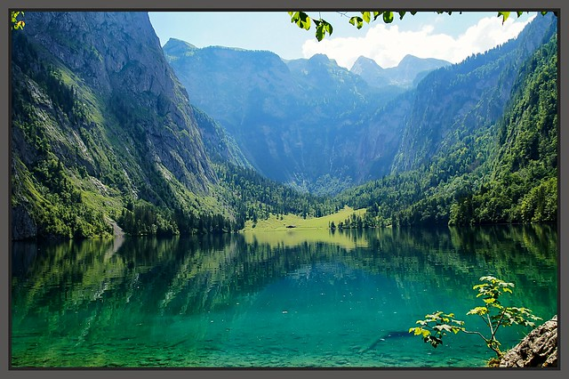 Hintersee -Reflection. .... Bayern