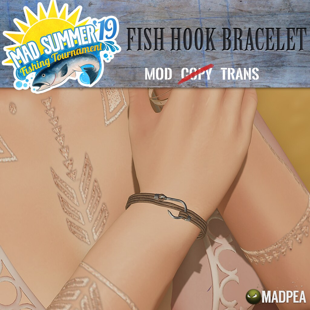 MadPea Mad Summer '19 Fishing Tournament Shiny: MadPea Fishhook Bracelet!