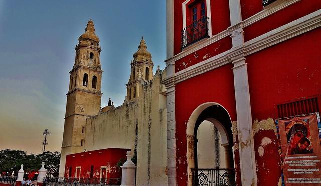MEXICO, frühmorgens in Campeche , Kathedrale La Concepción,  19162/11823
