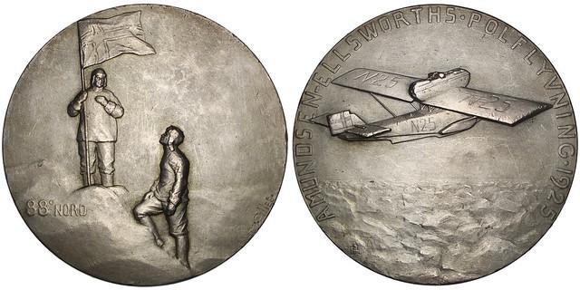 Amundsen-Ellsworth silvered bronze Medal