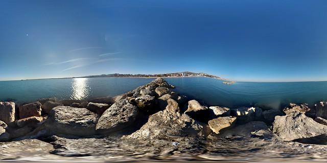 Nel mezzo del mare di Porto San Giorgio 360°  #Portosangiorgio