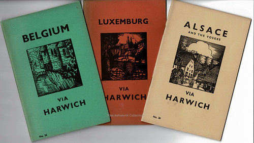 London & North Eastern Railway - travel brochures for Belgium, Luxembourg and Alsace & The Vosges, 1938