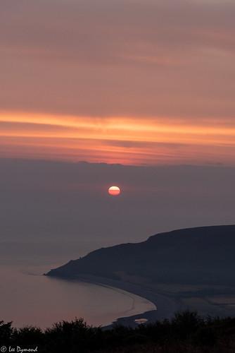 beach hurlstonepoint landscape places porlockbay porlockcommon somerset sunrise minehead england unitedkingdom