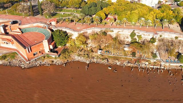 Rosario, desde Parque España al Monumento a la Bandera - 04 - Anfiteatro P. España y puerto viejo