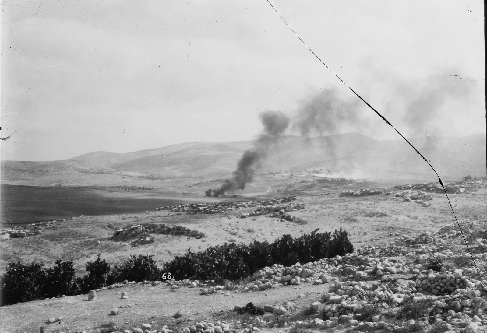 10. 23 по 31 августа. Хартув горит. Еврейское поселение, подожженное арабами