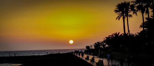tenerife sunset canaryislands promenade