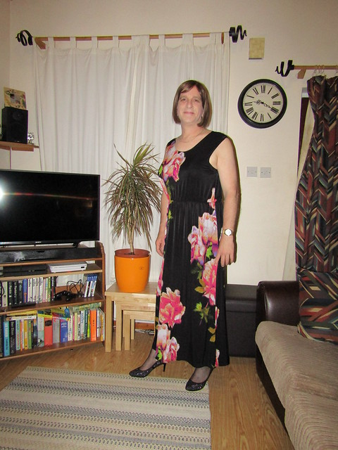 3-8-19 F&F Flowery Long Dress & Sparkly Shoes (4)