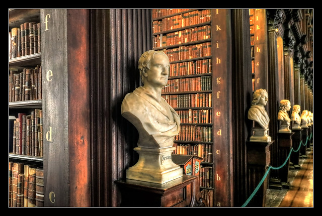 Dublin IR - The Long Room Of The Old Library At Trinity College 08