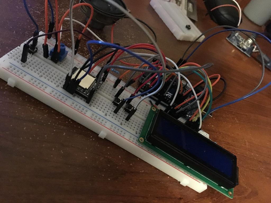 Breadboarded Circuit (w/o amplifier)