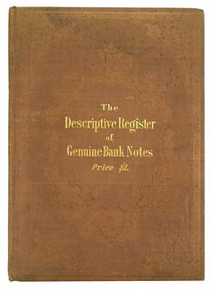 10 Descriptive Register of genuine Bank Notes