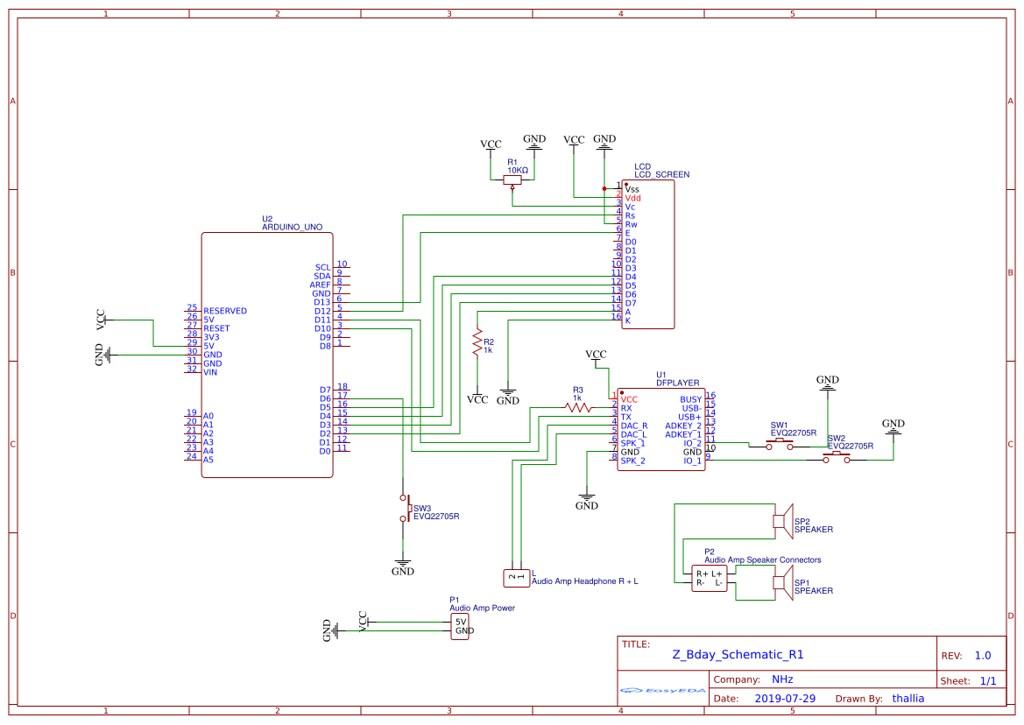 DFPlayer Arduino Schematic