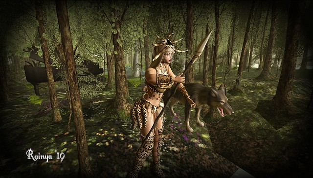 The huntress  and her  guardian