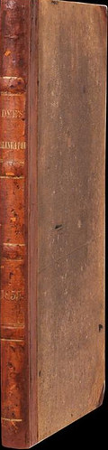 1855 Dye's Bank Note Plate Delineator spine
